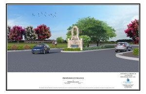 Proposed New Community Entry at Del Lago Parkway